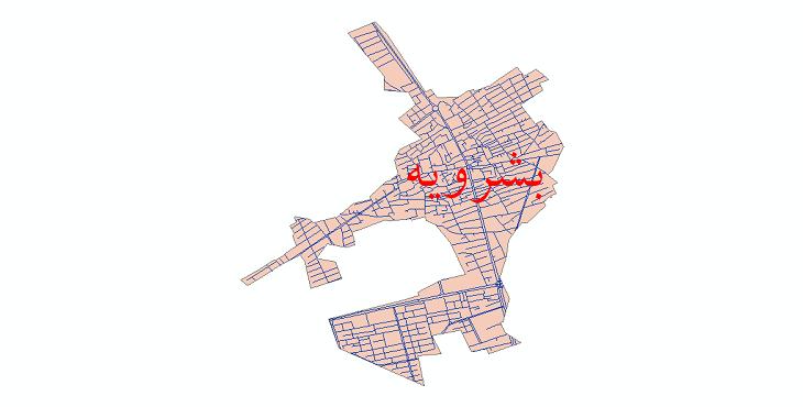 دانلود نقشه شیپ فایل شبکه معابر شهر بشرویه سال 1399