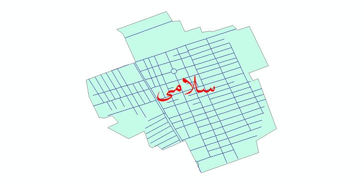 دانلود نقشه شیپ فایل شبکه معابر شهر سلامی سال 1399