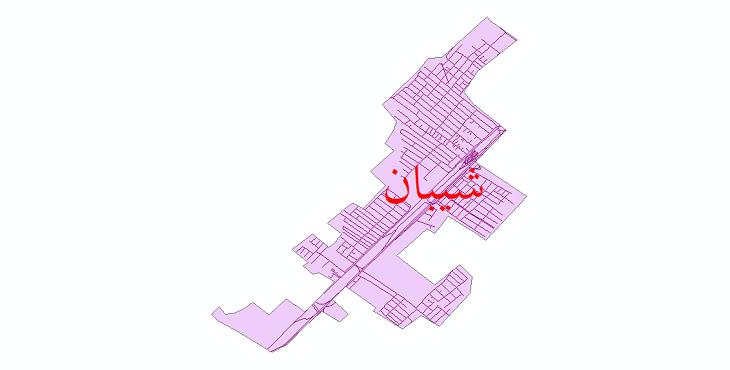 دانلود نقشه شیپ فایل شبکه معابر شهر شیبان سال 1399