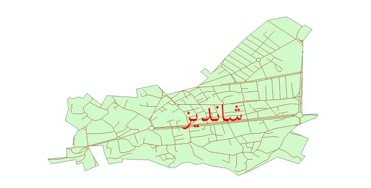 دانلود نقشه شیپ فایل شبکه معابر شهر شاندیز سال 1399