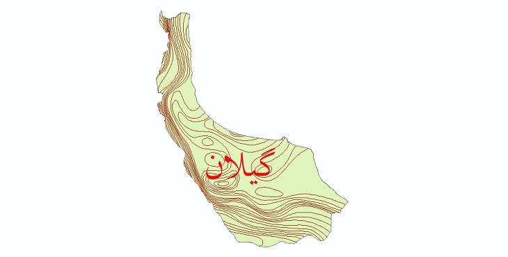 دانلود نقشه شیپ فایل خطوط هم بارش استان گیلان