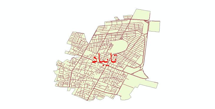 دانلود نقشه شیپ فایل شبکه معابر شهر تایباد سال 1399