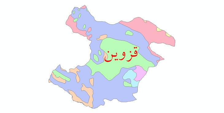 دانلود نقشه شیپ فایل پوشش گیاهی استان قزوین