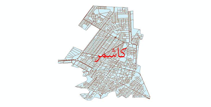 دانلود نقشه شیپ فایل شبکه معابر شهر کاشمر سال 1399