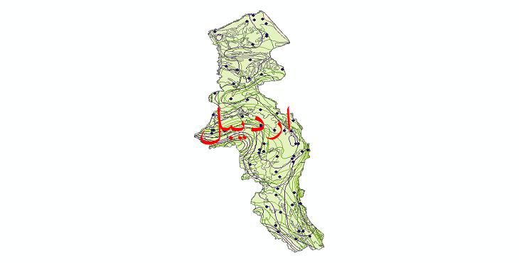 دانلود نقشه شیپ فایل اقلیمی استان اردبیل