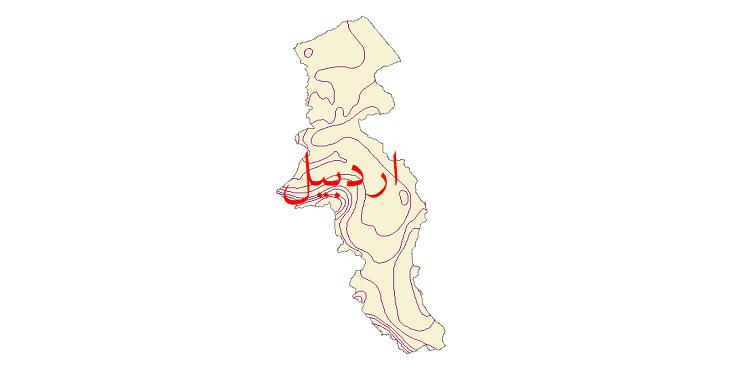 دانلود نقشه شیپ فایل خطوط هم دما استان اردبیل
