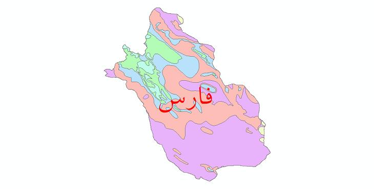دانلود نقشه شیپ فایل طبقات اقلیمی استان فارس