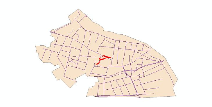 دانلود نقشه شیپ فایل شبکه معابر شهر حر سال 1399