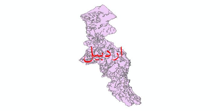 دانلود نقشه شیپ فایل کاربری اراضی استان اردبیل