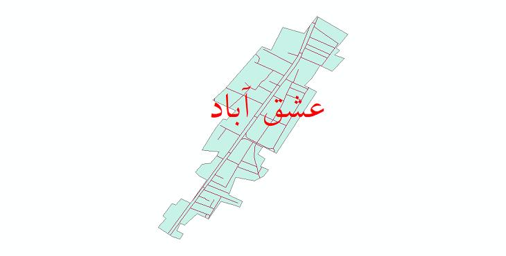 دانلو نقشه شیپ فایل شبکه معابر شهر عشق آباد سال 1399