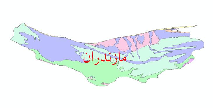 دانلود نقشه شیپ فایل خاک استان مازندران