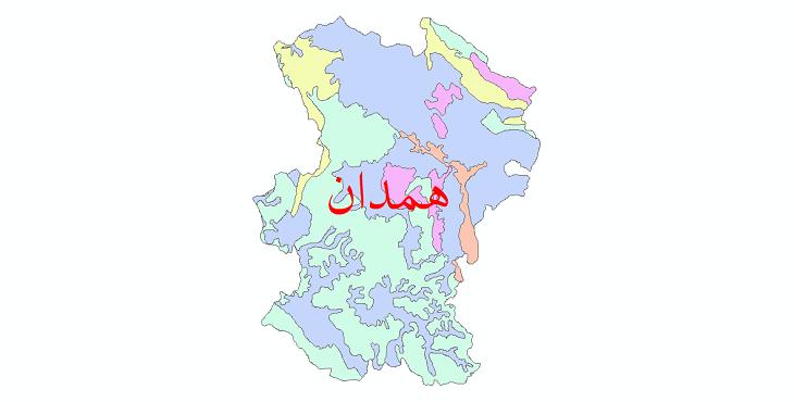 دانلود نقشه شیپ فایل خاک استان همدان