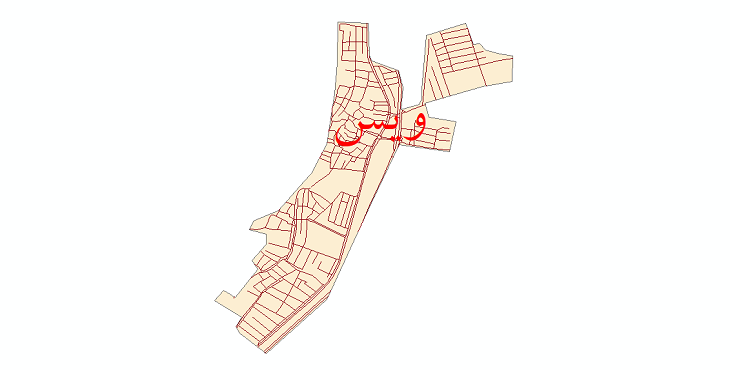 دانلود نقشه شیپ فایل شبکه معابر شهر ویس سال 1399