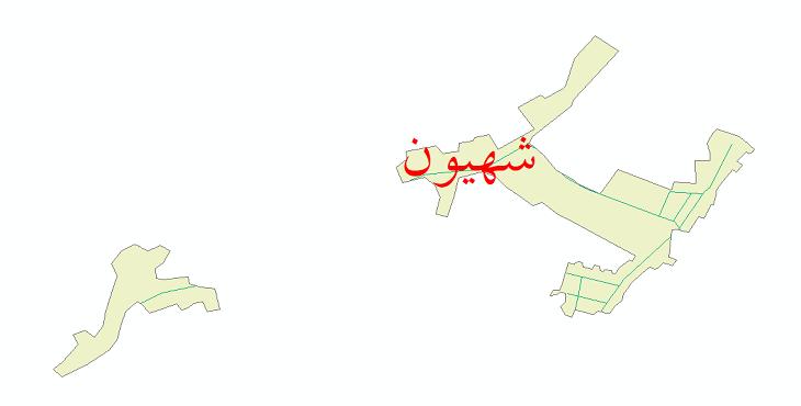 دانلود نقشه شیپ فایل شبکه معابر شهر شهیون سال 1399
