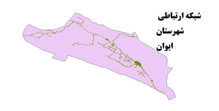 شیپ فایل شبکه راههای شهرستان ایوان 1399