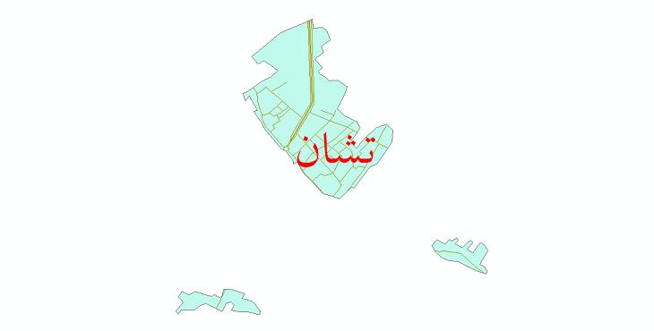 دانلود نقشه شیپ فایل شبکه معابر شهر تشان سال 1399