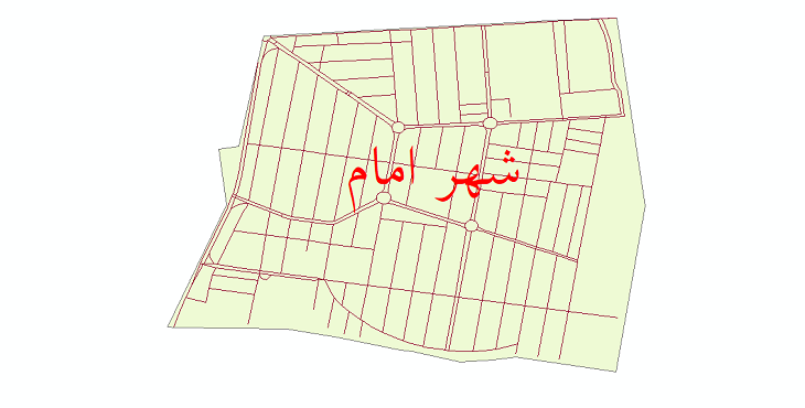 دانلود نقشه شیپ فایل شبکه معابر شهر امام سال 1399