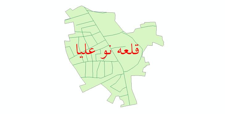 دانلود نقشه شیپ فایل شبکه معابر شهر قلعه نو علیا سال 1399