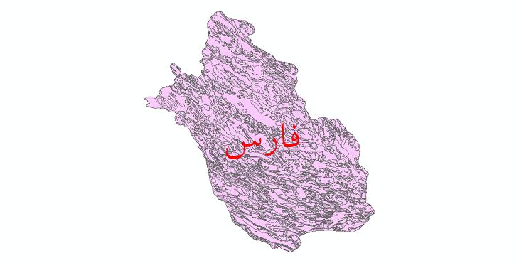 دانلود نقشه شیپ فایل زمینشناسی استان فارس