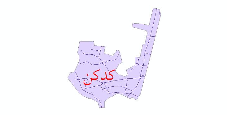 دانلود نقشه شیپ فایل شبکه معابر شهر کدکن سال 1399