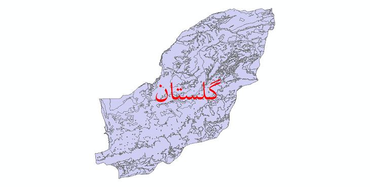 دانلود نقشه شیپ فایل کاربری اراضی استان گلستان
