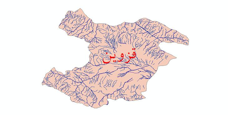 دانلود نقشه شیپ فایل رودخانه های استان قزوین