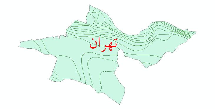 دانلود نقشه شیپ فایل خطوط هم بارش استان تهران