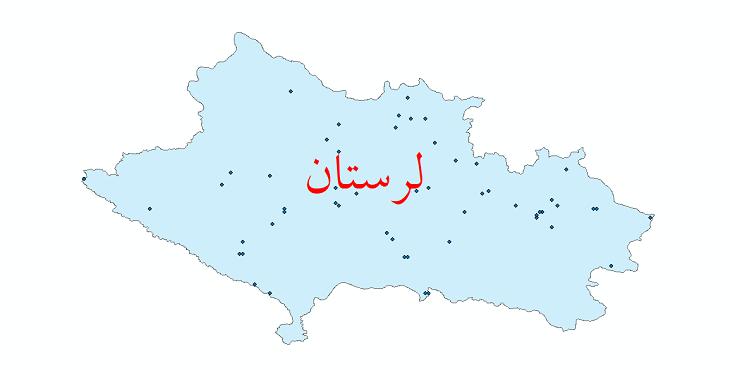 دانلود نقشه شیپ فایل ایستگاه های هواشناسی و نقاط باران سنجی استان لرستان