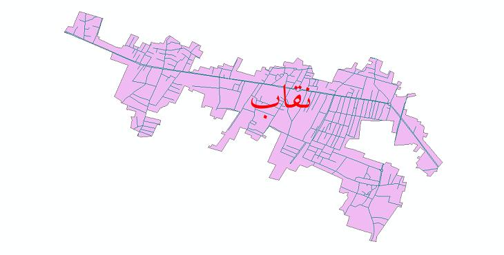 دانلود نقشه شیپ فایل شبکه معابر شهر نقاب سال 1399
