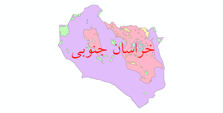 دانلود نقشه شیپ فایل پوشش گیاهی استان خراسان جنوبی