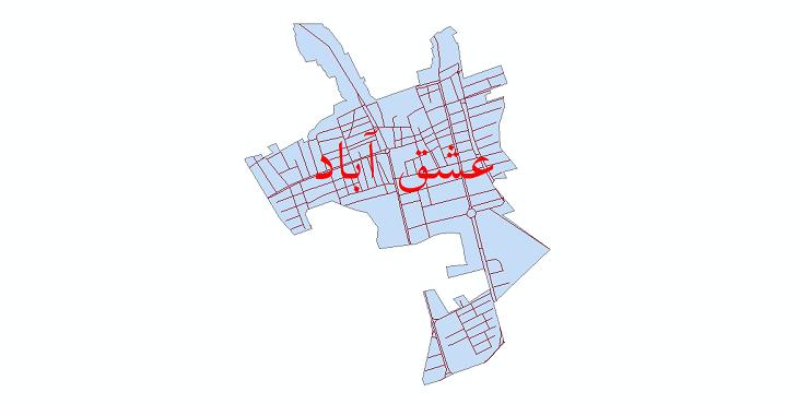 دانلود نقشه شیپ فایل شبکه معابر شهر عشق آباد سال 1399