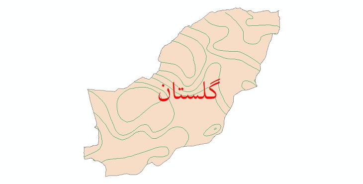 دانلود نقشه شیپ فایل خطوط هم تبخیر استان گلستان