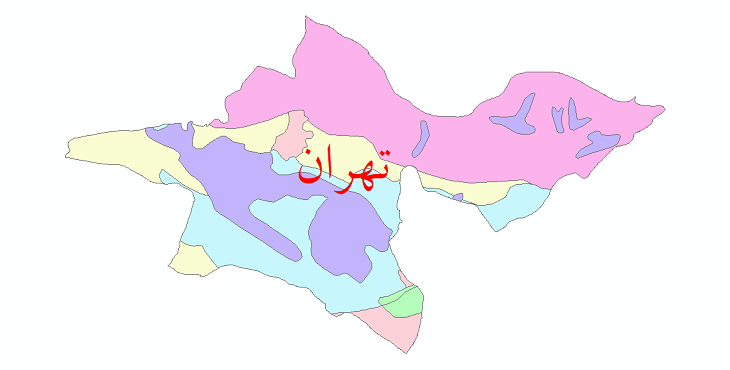 دانلود نقشه شیپ فایل پوشش گیاهی استان تهران