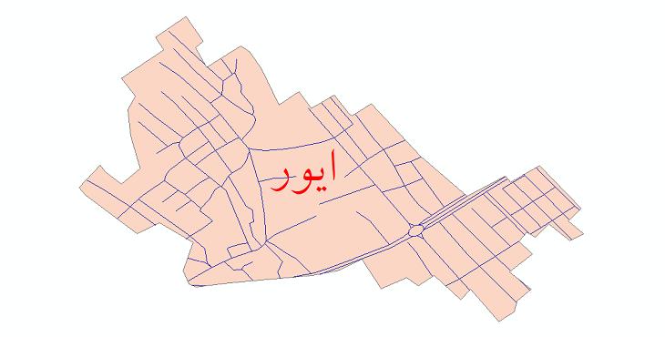 دانلود نقشه شیپ فایل شبکه معابر شهر ایور سال 1399