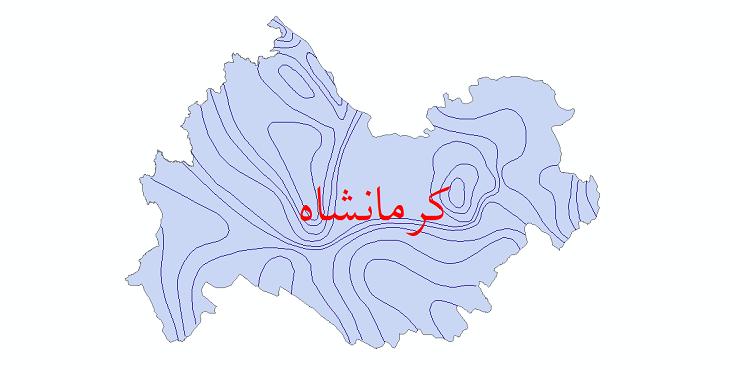 دانلود نقشه شیپ فایل خطوط هم بارش استان کرمانشاه