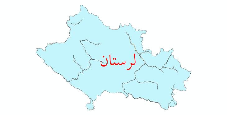 دانلود نقشه شیپ فایل پهنه های سیلاب استان لرستان