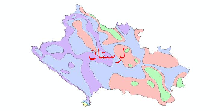 دانلود نقشه شیپ فایل طبقات اقلیمی استان لرستان