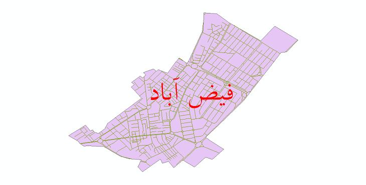 دانلود نقشه شیپ فایل شبکه معابر شهر فیض آباد سال 1399