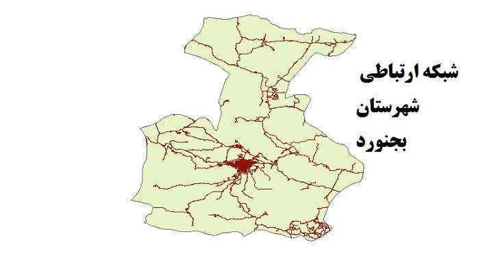 شیپ فایل شبکه راههای شهرستان بجنورد 1399