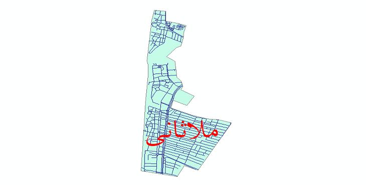 دانلود نقشه شیپ فایل شبکه معابر شهر ملاثانی سال 1399