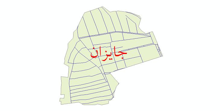 دانلود نقشه شیپ فایل شبکه معابر شهر جایزان سال 1399