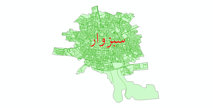 دانلود نقشه شیپ فایل شبکه معابر شهر سبزوار سال 1399