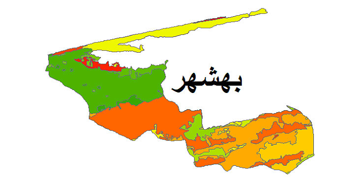 شیپ فایل کاربری اراضی شهرستان بهشهر