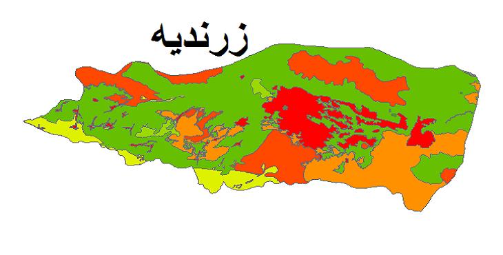 شیپ فایل کاربری اراضی شهرستان زرندیه