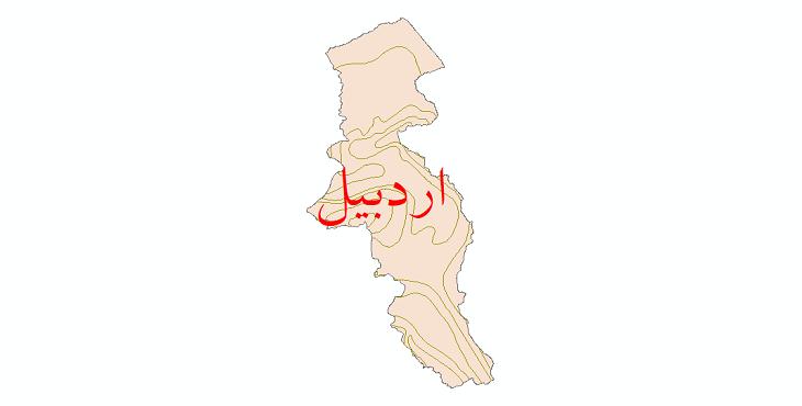دانلود نقشه شیپ فایل خطوط هم تبخیر استان اردبیل