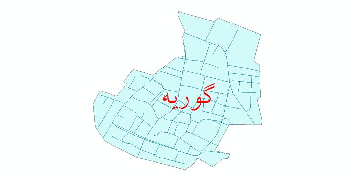 دانلود نقشه شیپ فایل شبکه معابر شهر گوریه سال 1399