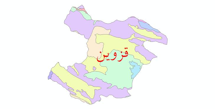 دانلود نقشه شیپ فایل خاک استان قزوین