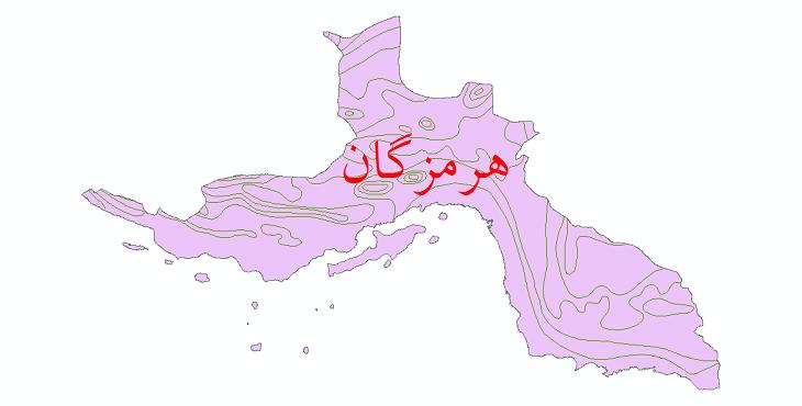 دانلود نقشه شیپ فایل خطوط هم تبخیر استان هرمزگان
