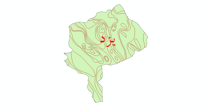 دانلود نقشه شیپ فایل خطوط هم تبخیر استان یزد