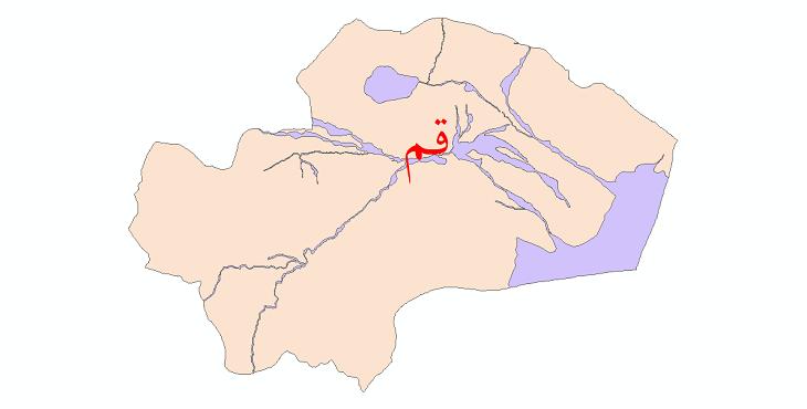 دانلود نقشه شیپ فایل پهنه های سیلاب استان قم